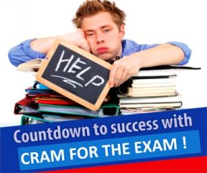 Cram for the exam!